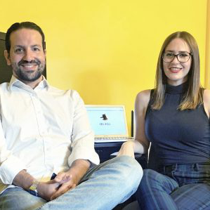 Sarah Ewart and Dave Barroqueiro were part of a TRU 法 team that developed a series of apps to help people access COVID assistance programs.